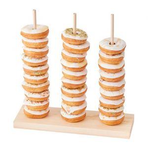 Houten donut standaard Gold Wedding Ginger Ray
