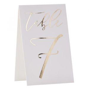 Tafelnummers 1-12 Gold Wedding Ginger Ray