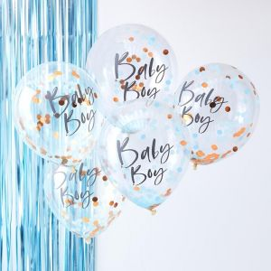 Ginger Ray baby boy confetti ballonnen (5st) Twinkle Twinkle product