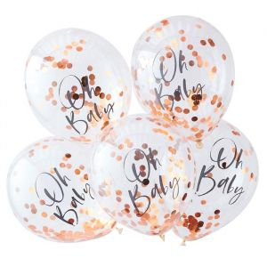 Confetti ballonnen Oh Baby Twinkle Twinkle (5 st) Ginger Ray