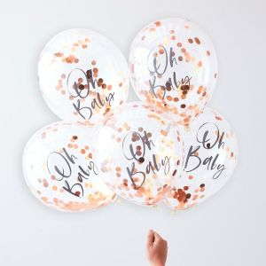 Ginger Ray oh baby confetti ballonnen (5st) Twinkle Twinkle product