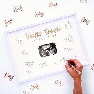 Alternatief gastenboek fotolijst Twinkle Twinkle Ginger Ray sfeer