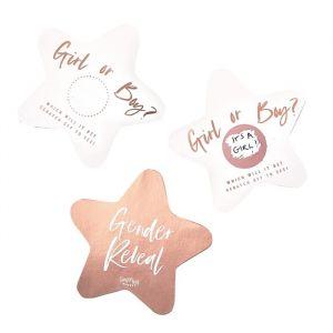 Gender Reveal kraskaarten Twinkle Twinkle (10st) Ginger Ray
