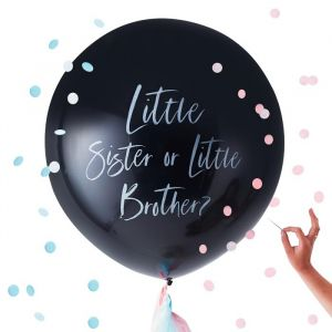 Gender Reveal Ballon Brother or Sister Twinkle Twinkle Ginger Ray