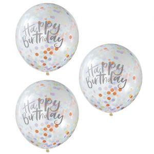 Confetti ballonnen Birthday Pastel Party (5 st) Ginger Ray