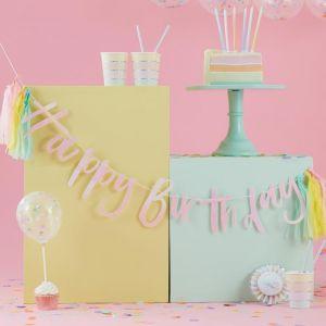 Slinger Happy Birthday Pastel Party Ginger Ray