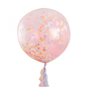 Mega confetti ballonnen Pastel Party (3 st) Ginger Ray