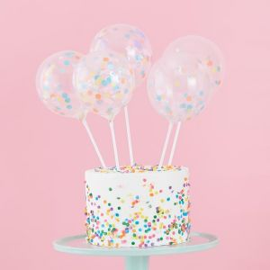 Confettiballonen prikkers Pastel Party (5 st) Ginger Ray