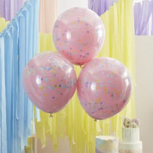 Confettiballonnen Mix it Up Pastel (3st) Ginger Ray