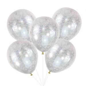 Ballonnen engelenhaar zilver Pop The Bubbly (5st) Ginger Ray
