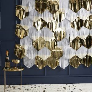 Backdrop tassels wit goud Pop The Bubbly Ginger Ray