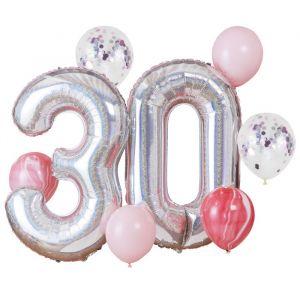 Ballonnenset 30 jaar Star Gazer Ginger Ray