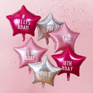 Folieballonnen verjaardag stickers Star Gazer (6st)