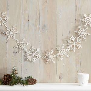Slinger sneeuwsterren glitter wit Let it Snow Ginger Ray