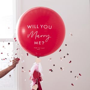 Ballon Will You Mary Me Ginger Ray