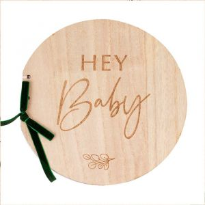 Gastenboek hout Hey Baby Botanical Baby Ginger Ray
