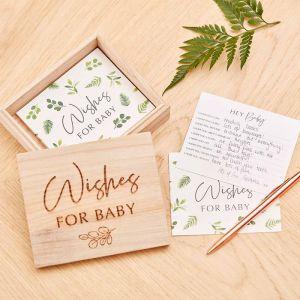 Baby Wishes in houten kistje Botanical Baby Ginger Ray