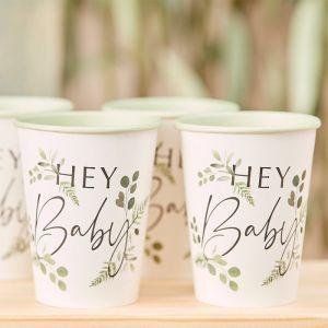 Bekertjes Hey Baby Botanical Baby (8st) Ginger Ray