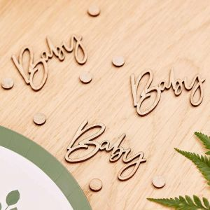 Tafelconfetti Baby hout Botanical Baby Ginger Ray