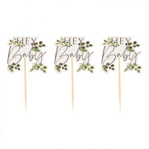 Cupcake toppers Botanical Baby (12st) Ginger Ray