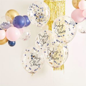 Confetti ballonnen navy & pink Gender Reveal Ginger Ray