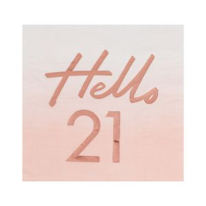 Servetten Hello 21 rosé Mix It Up (16st) Ginger Ray