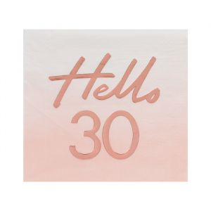 Servetten Hello 30 rosé Mix It Up (16st) Ginger Ray