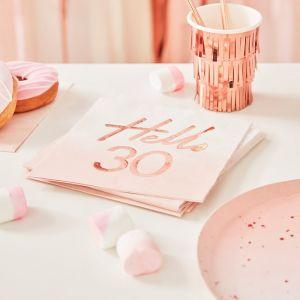 Servetten Hello 30 rosé Mix It Up (16st) Ginger Ray