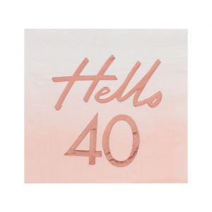 Servetten Hello 40 rosé Mix It Up (16st) Ginger Ray