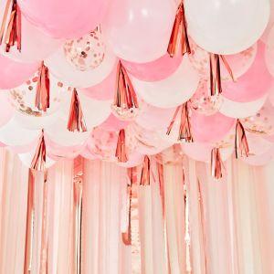 Ballonnen plafond kit roze Mix It Up Ginger Ray