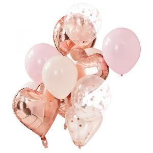 Ballonnenmix blush Mix It Up (12st) Ginger Ray