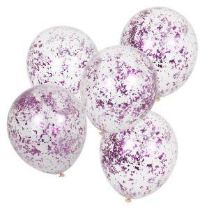 Confetti ballonnen lila Mix It Up (5st) Ginger Ray