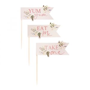 Cupcake toppers Floral Let's Partea (12st) Ginger Ray
