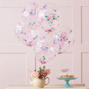 Confetti ballonnen Floral Let's Partea (5st) Ginger Ray