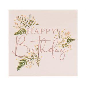 Servetten Happy Birthday Let's Partea (16st) Ginger Ray