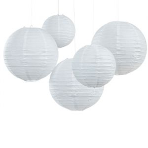 Lampion wit (5st) Ginger Ray