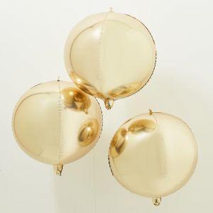 Orb ballonnen goud (3st) Ginger Ray