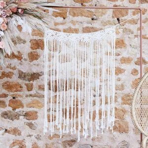 Backdrop macrame creme A Touch of Pampas Ginger Ray