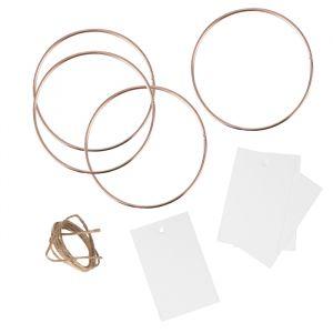 Plaatskaartjes metalen cirkels A Touch of Pampas (4st)