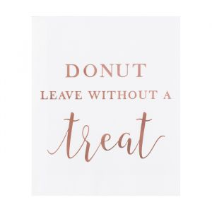 Uitdeelzakjes Donut Leave A Touch of Pampas (20st)