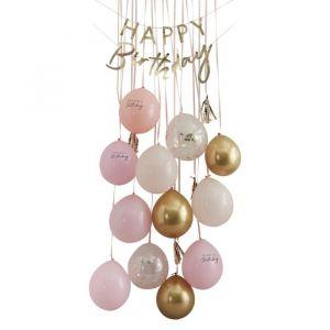 Decoratie kit Birthday Surpirse Mix it Up Peach Ginger Ray