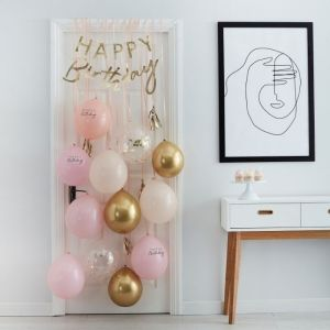 Decoratie kit Birthday Surpirse Peach Party Ginger Ray