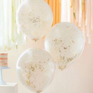 Confettiballonnen Peach Party (3st) Ginger Ray