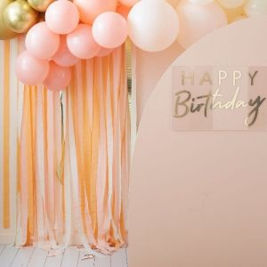 Backdrop streamers Peach Party Ginger Ray