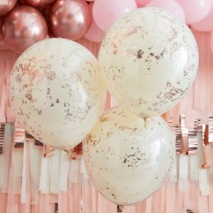 Confettiballonnen Double Peach Party (3st) Ginger Ray