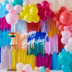 Ballonnenboog en streamers Bright Party Ginger Ray