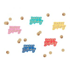Tafelconfetti Happy Birthday Mix it Up Brights Ginger Ray