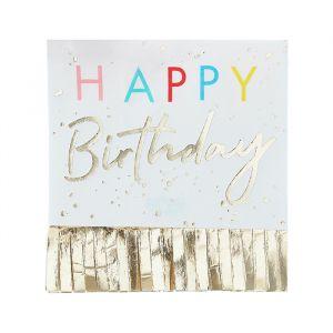 Servetten Happy Birthday Fringe Mix it Up Brights (16st)