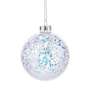 Kerstbal glitter Sass & Belle