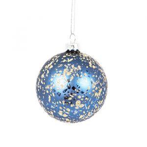 Kerstbal donkerblauw Sass & Belle